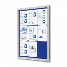 Tablón de anuncios interior/exterior, esquinas de seguridad