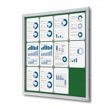Tablón de anuncios de fieltro verde (12xA4)