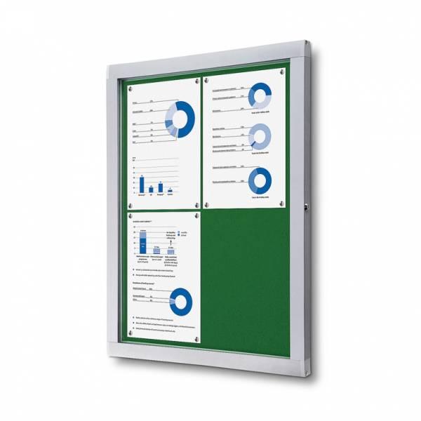 Tablón de anuncios de fieltro verde (4xA4)