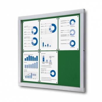 Tablón de anuncios de fieltro verde (6xA4)