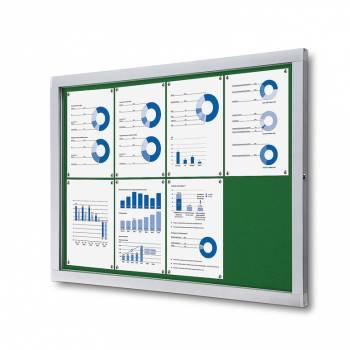 Tablón de anuncios de fieltro verde (8xA4)