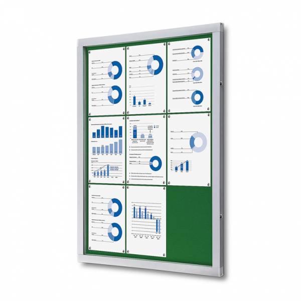 Tablón de anuncios de fieltro verde (9xA4)