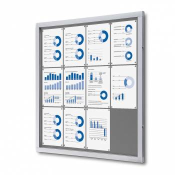Tablón de anuncios de fieltro gris (12xA4)