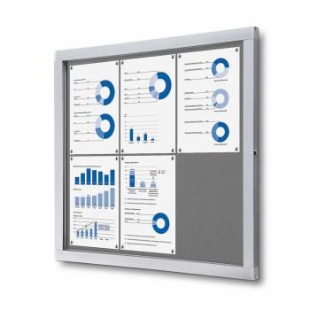 Tablón de anuncios de fieltro gris (6xA4)