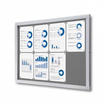 Tablón de anuncios de fieltro gris (8xA4)