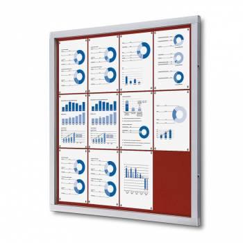 Tablón de anuncios de fieltro rojo (12xA4)