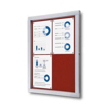 Tablón de anuncios de fieltro rojo (4xA4)