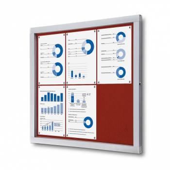 Tablón de anuncios de fieltro rojo (6xA4)