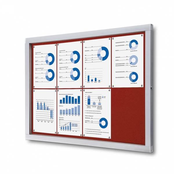 Tablón de anuncios de fieltro rojo (8xA4)