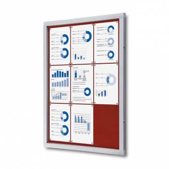 Tablón de anuncios de fieltro rojo (9xA4)