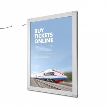 Porta póster con cerradura y LED OL