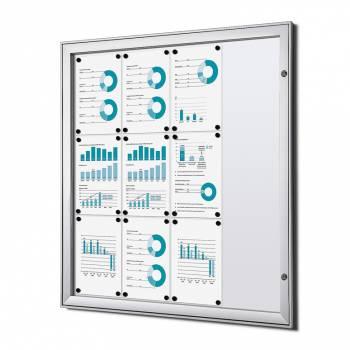 Tablón de anuncios ignífugo interior / exterior (12xA4)