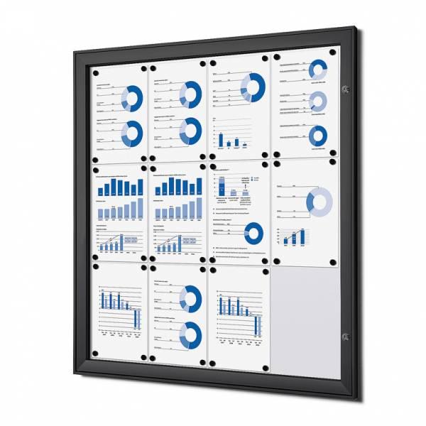 Tablón de anuncios magnético negro (12xA4)