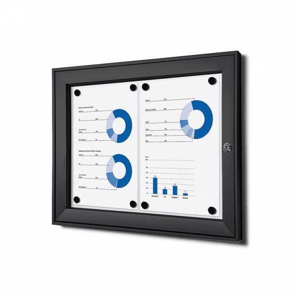 Tablón de anuncios magnético negro (2xA4)