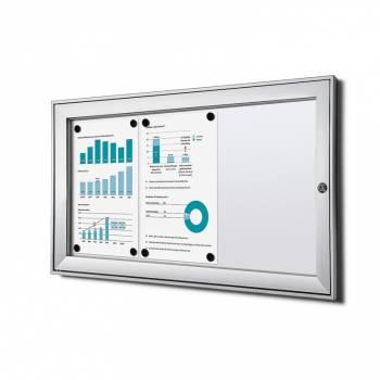 Tablón de anuncios ignífugo interior / exterior (3xA4)