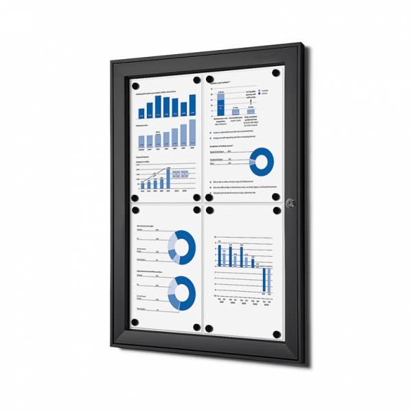 Tablón de anuncios magnético negro (4xA4)