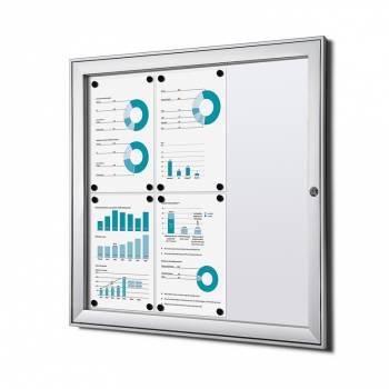 Tablón de anuncios ignífugo interior / exterior (6xA4)