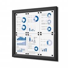 Tablón de anuncios magnético negro (6xA4)