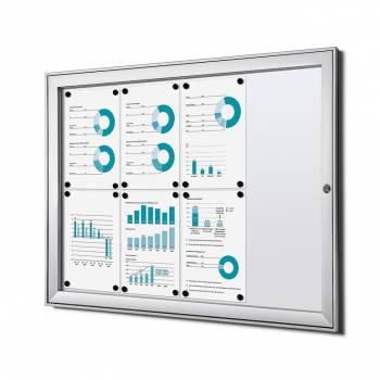 Tablón de anuncios ignífugo interior / exterior (8xA4)