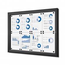 Tablón de anuncios magnético negro (8xA4)