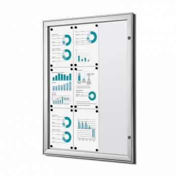 Tablón de anuncios ignífugo interior / exterior (9xA4)