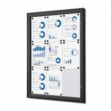 Tablón de anuncios magnético negro (9xA4)