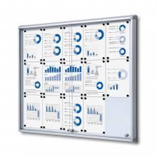 Tablón de anuncios magnético ignífuco con puerta corredera