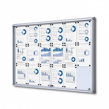 Tablón de anuncios interior, puertas correderas (18xA4)