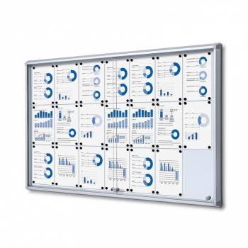 Tablón de anuncios interior, puertas correderas (21xA4)