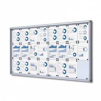 Tablón de anuncios interior, puertas correderas (24xA4)