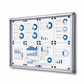 Tablón de anuncios interior, puertas correderas (8xA4)