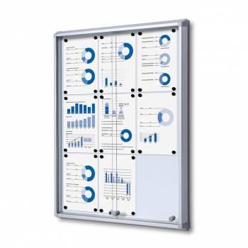 Tablón de anuncios interior, puertas correderas (9xA4)