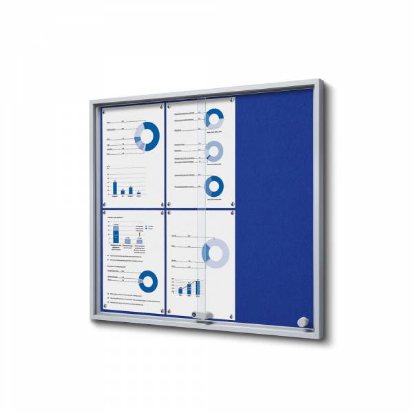 Vitrina Interior Fieltro azul SLIM (6xA4)