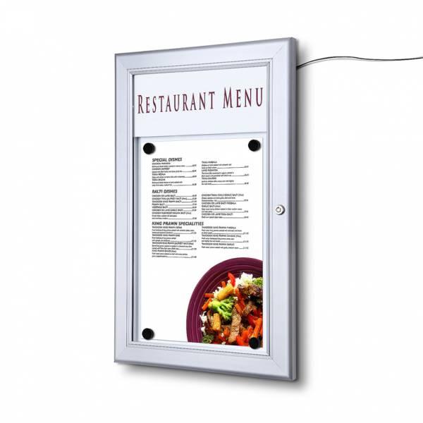 Vitrina porta menú exterior LED (1xA4)