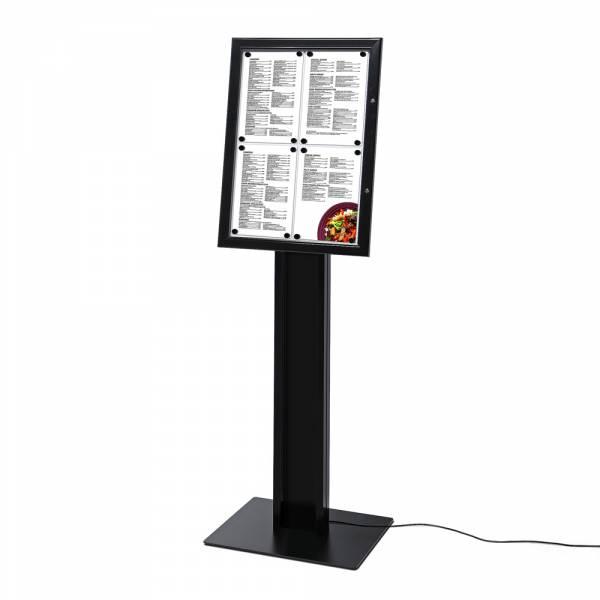 Soporte para menú negro 4XA4 LED