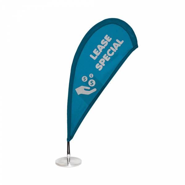 Micro Bandera Tablero de mesa 60cm, base y mástil