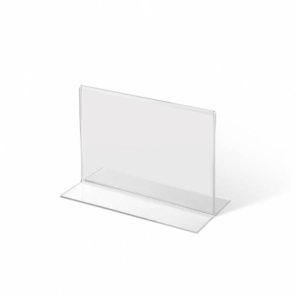 Soporte para folleto y portamenús de sobremesa, formato vertical en