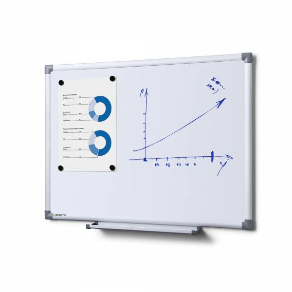 Pizarra blanca magnética Premium (60x45)