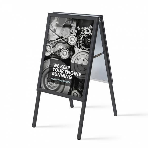 Caballete publicitario 50x70 negro (32 mm)
