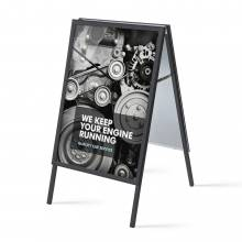 Caballete publicitario 70x100 negro (32 mm)