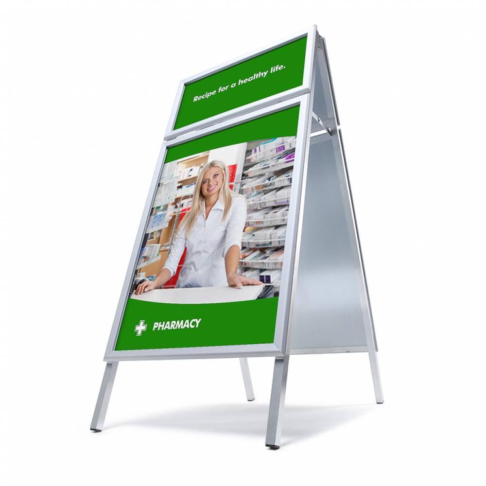 Caballete publicitario A1 con cabecera   jansen-display.es