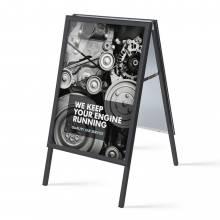 Caballete publicitario A1 negro (32 mm)
