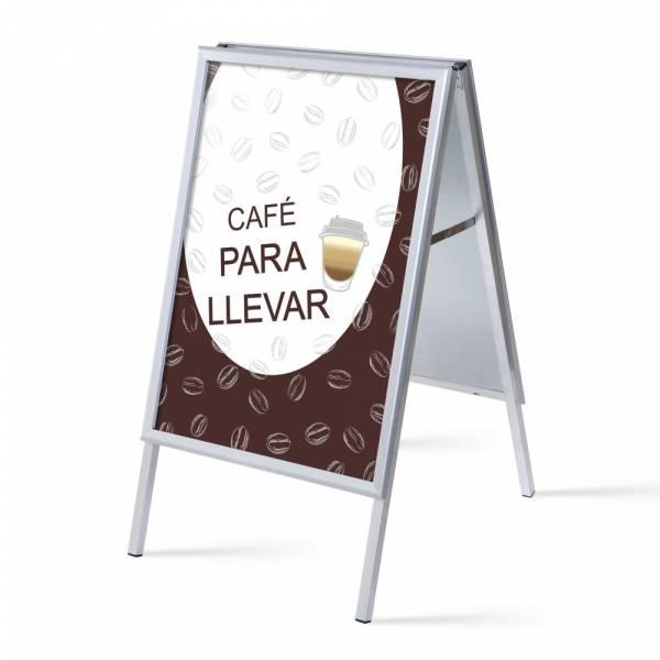 Set Completo Caballete A1 Café Para Llevar Español
