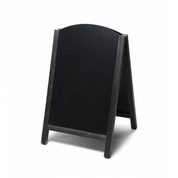 Pizarra de caballete de madera Fast Switch (color negro)